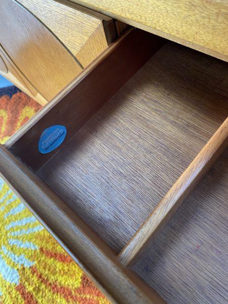 Mid Century 1960s Teak 'Circles' Sideboard Manufactured by Nathan Furniture