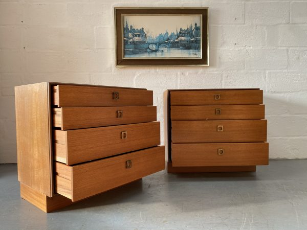Pair of Vintage G Plan 'Form Five' Chest of Drawers