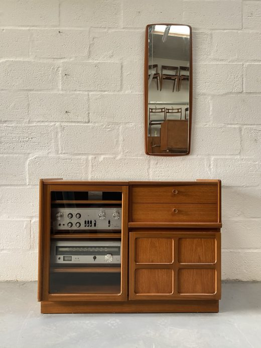 Classic Retro 1970s NATHAN FURNITURE Teak Hi-Fi Unit / Storage Unit