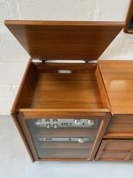 Classic Retro 1970s NATHAN FURNITURE Teak Hi-Fi Unit / Storage Unit