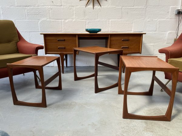 Classic 1970s G Plan Quadrille Teak Nest Of Tables