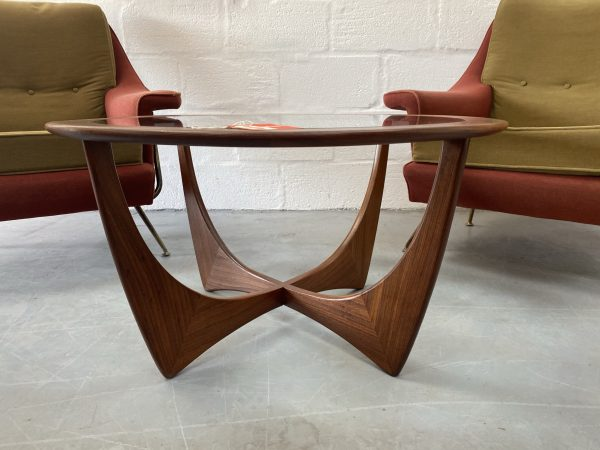 1960s Teak Glass Circular Coffee Table by V.B. Wilkins for G Plan
