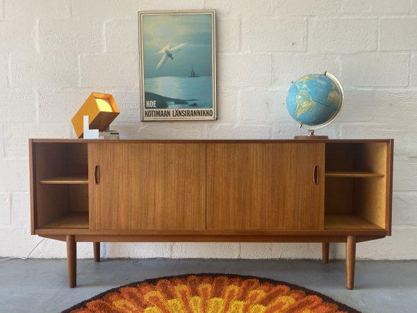 1960s Vintage Swedish Teak Sideboard by Nils Jonsson for Hugo Troeds Bjärnum