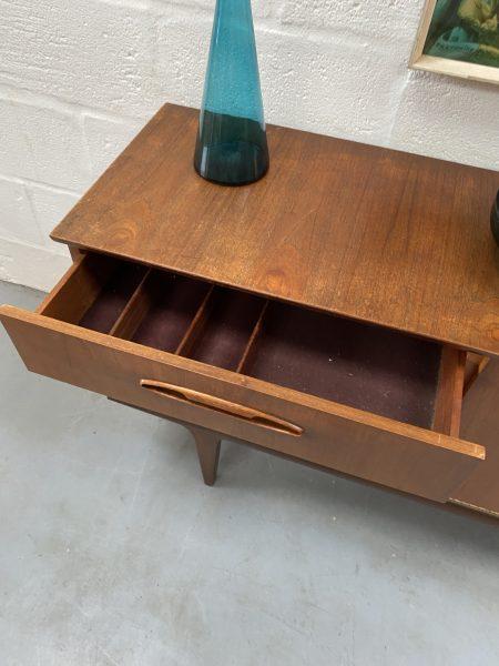 Vintage Teak Mid Century Small Sideboard